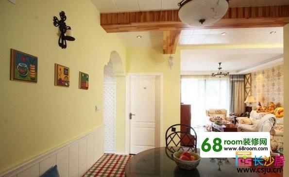 2011 室内装修效果 图大全之90平两室两厅混搭